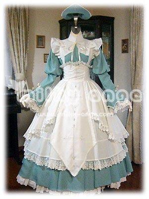 (ミルキーアンジェ) milky ange シスター メイド ミネルヴァ アイシーブルー ML ロング メイド服