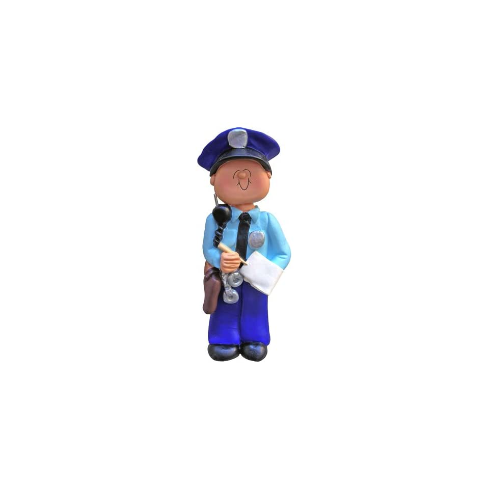 3211 Police Officer Male Personalized Christmas Ornament