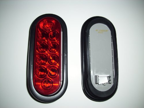 """Optronics (Stl-72Rs) Red 6"""" Led Oval Tail Light"""
