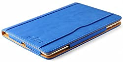 iPad Mini Case - The Original Blue & Tan Leather Smart Cover for iPad Mini 4th, 3rd, 2nd and 1st Generation