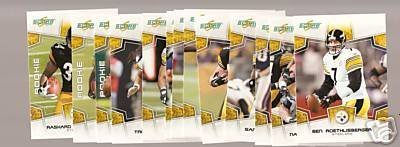 2008 Score Pittsburgh Steelers Complete Team Set of 13 cards including Ben Roethlisberger, Troy Polamalu and more!