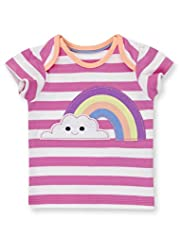 Pure Cotton Cloud & Rainbow Appliqué T-Shirt