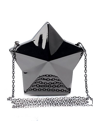 Lemon & T L. West Handmade Donna Metallic Luster Pentagram sera borsa, Silver