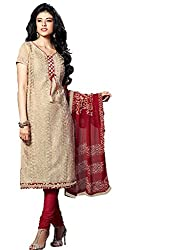 Lt Nitya Women's Cotton Unstiched Dress Material (p002_Cream)