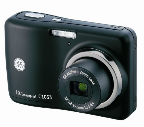 GE C1033 10MP Digital Camera with 3X Optical Zoom and 2.4 Inch LCD with Auto Brightness (Black)