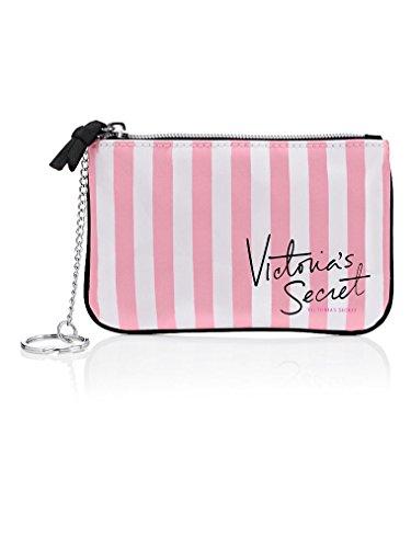 【 メイクアップバッグ 】VICTORIA'S SECRET ヴィクトリアシークレット/ビクトリアシークレット VSストライプ メイクアップポーチ