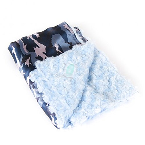 Allyzabba Camo Blue Large Baby Blanket 34″ X 28″ - 1