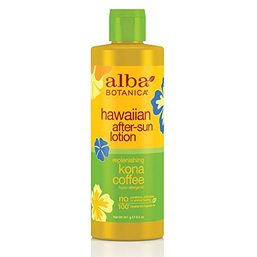 Alba Botanica Replenishing Kona Coffee Hawaiian After-Sun Lotion, 8.5 Ounce Tube
