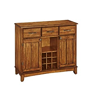 Home Styles 5100-0066 Buffet of Buffets Cottage Oak Wood Top Buffet Server, Cottage Oak Finish, 41-3/4-Inch