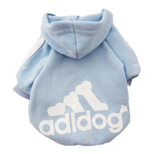 Zehui Pet Dog Cat Sweater Puppy T Shirt Warm Hoodies Coat Clothes Apparel Blue L