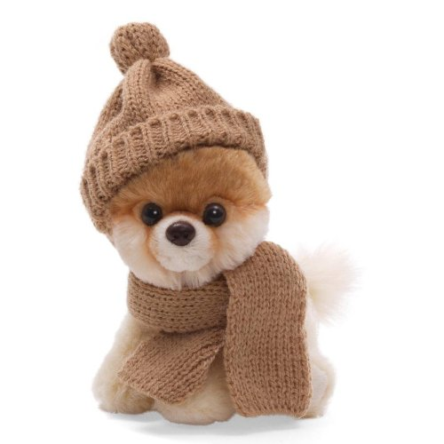 "Gund 5"" Itty Bitty Boo In Knit Scarf And Cap Plush front-11791"