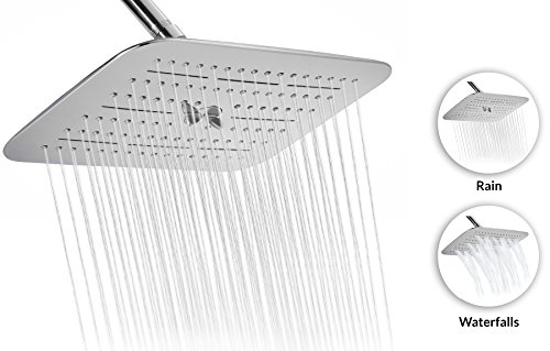 Buy Discount A-Flow™ Luxury Large 12 Two Functions Showerhead - Rain and Multiple Waterfalls / Ch...