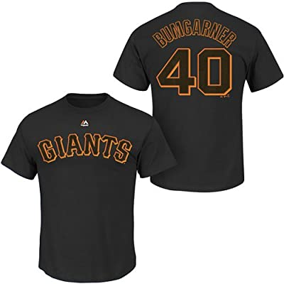 Madison Bumgarner #40 San Francisco Giants MLB Men's Name & Number T-Shirt Black