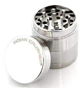 Indian Crusher 1.6 Inch Zinc 4 Piece Tobacco Spice Herb Grinder