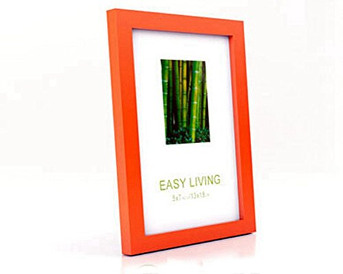Linear Wood Matted 8x10 Photo Frame (Orange)