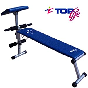 Topfit BC3000 Dumbell Weight Bench/Ab Board With Adjustable Preacher Pad