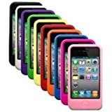 MKT Ten colors Silicone Case / Skins / Cover for iPhone 4 4G 4S AT&T - Black, White, Purple, Green, Yellow, Red, Orange, Blue, Hot Pink, Light Pink