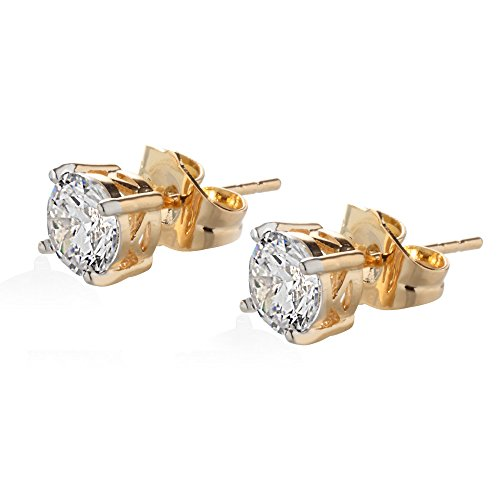 Big Tree 18K Gold Plated CZ Solitaires (yellow)