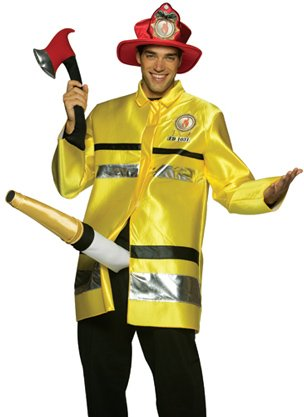 The Fire Extinguisher Costume - One Size - Chest Size 42-48