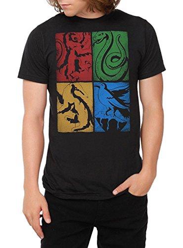 Harry Potter House Crests T-Shirt Size : Large