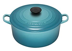 Le Creuset Enameled Cast-Iron 7-1/4-Quart Round French Oven, Caribbean