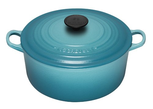 Le Creuset 28 cm Cast Iron Round Casserole in Teal