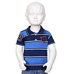 Tales & Stories Blue Polo With Badges