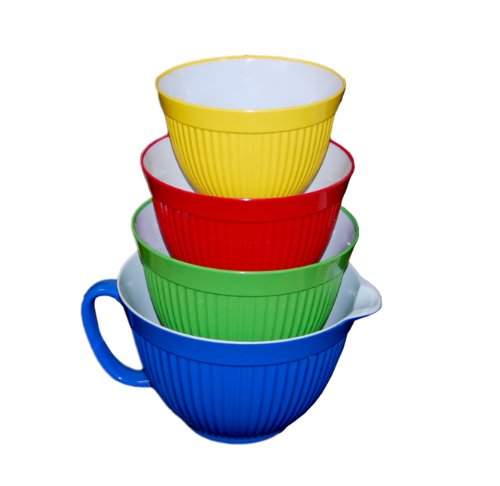 melamine-bowls-set-of-4-fluted-retro-ribbed-design-in-4-great-colors