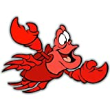 Little Mermaid Sebastian Disney sticker 5 x 4