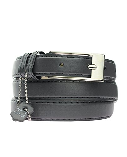 """New Classy Womens Skinny Leather Belt with Shiny Buckle Many Colors S-XL (L (37""""-41""""), Gray)"""