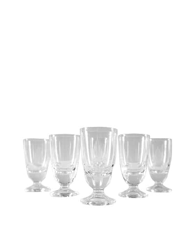 Set of 6 French Petite Port Glasses, Clear