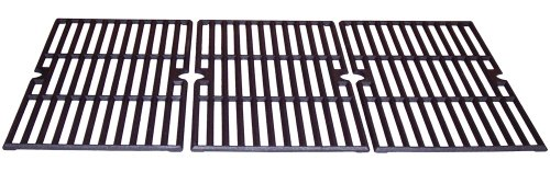 Music City Metals 68763 Matte Cast Iron Cooking Grid Replacement for Select Gas Grill Models by Charbroil, Kenmore and Others, Set of 3 Picture