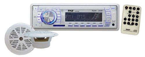 Pyle PLMRKT33WT In-Dash Marine AM/FM PLL Tuning Radio with USB/SD/MMC Reader