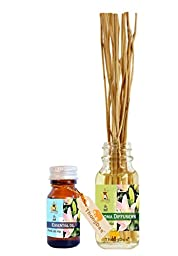 ThongDee Lilly Floral Essential Oil and Reed Diffuser Oil Aromatherapy Set