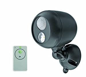 Mr. Beams MB371 Remote Controlled Battery-Powered Motion-Sensing LED Outdoor Security Spotlight