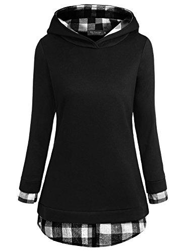 ea-selection-sweaters-2-en-1-chemise-pullover-chaud-a-capuche-veste-femme-noir-blanc-xl