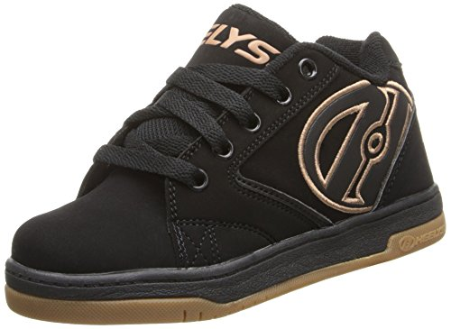 Heelys Propel 2.0 Skate Shoe (Little Kid/Big Kid),Black/Gum,3 M US Little Kid