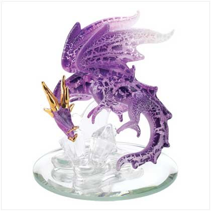 Glass Purple Dragon
