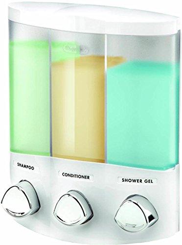 Euro Series TRIO Three Compartments For Soap Shampoo and Conditioner Dispenser (Plastic Coated Butcher Paper compare prices)