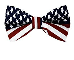 Red - White - Blue - American Flag Pre Tied Bow Tie