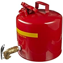 "Eagle 1417 Faucet Safety Can, 5 Gallon Capacity, 12-1/2"" Width x 13-1/2"" Depth, Red"