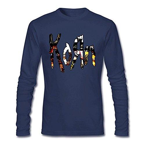 Arnoldo Blacksjd Men's Korn Metal Bands Design Long Sleeve Cotton T Shirt X-Large