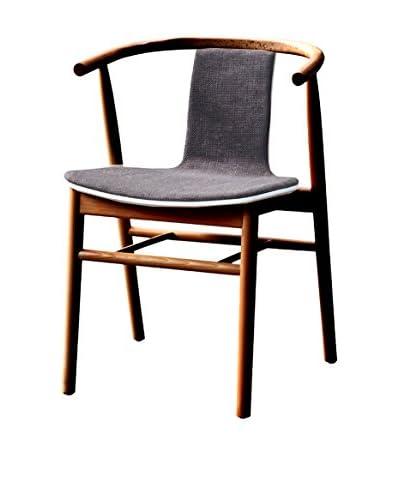 Manhattan Living Wishflat Dining Side Chair, Walnut