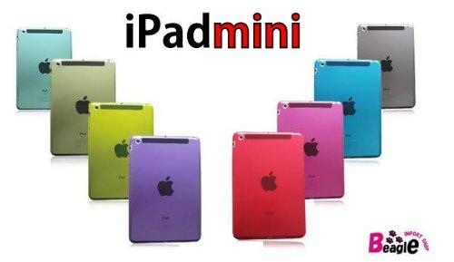 iPad mini TPUケース/カバー【アイパットミニ/iPadmini/無地/クリアカラー】1836BK