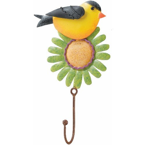 Hanging Hooks Single Goldfinch Finch (Flower Color Varies) - Regal Art #R202
