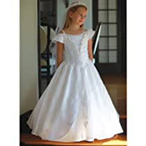 Angels Garment White Dress Size 12 Girl Communion Taffeta Guadalupe
