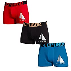 Crusoe Men's Cotton Trunks_zulu1013_(Pack of 3)_assorted colors_L_90-95cm