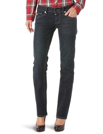 G-Star Women's Midge Straight Jeans, Comfort Dave Denim in Dark Vintage, W24/L32