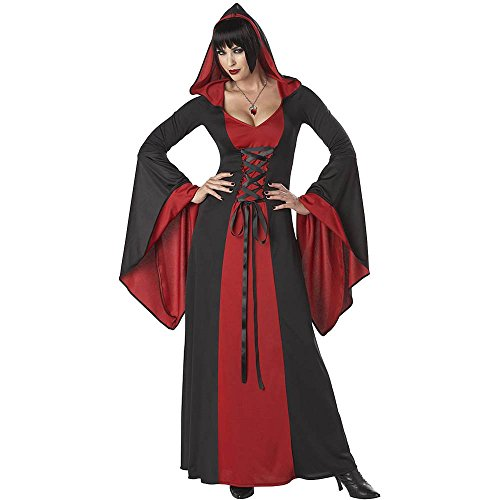 [Deluxe Red Hooded Robe - X-Large] (Womens Deluxe Hooded Robe Costumes)