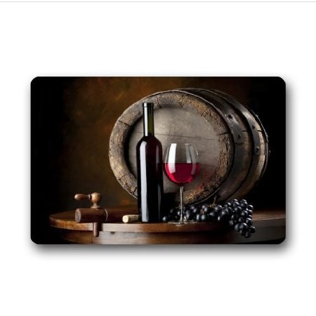 TSlook Fashions Doormat Red Wine Stain Resistant Indoor/Outdoor/Front Welcome Door Mat(23.6